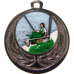 Silver Fishing Medal 40mm