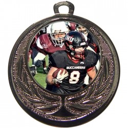 Silver American Football Medal 40mm
