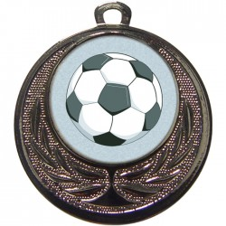Silver Football Medal 40mm