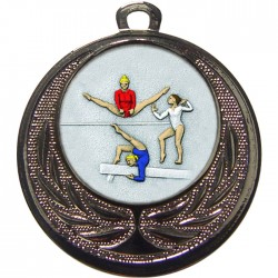 Silver Female Gymnastics Medal 40mm