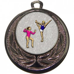 Silver Gymnastics Floor Medal 40mm