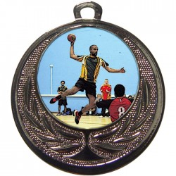 Silver Handball Medal 40mm