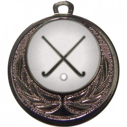 Silver Hockey Medal 40mm