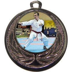 Silver Karate Medal 40mm