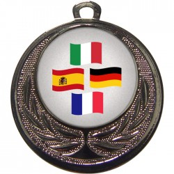 Silver Languages Medal 40mm