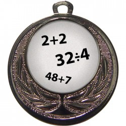 Silver Maths Medal 40mm