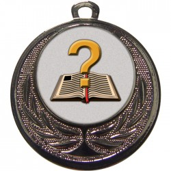 Silver Quiz Medal 40mm