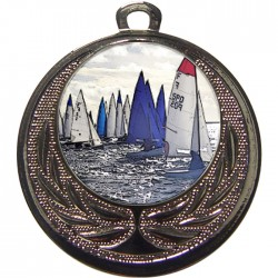 Silver Sailing Medal 40mm