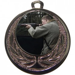 Silver Clay Pigeon Shooting Medal 40mm