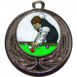 Silver Snooker Medal 40mm