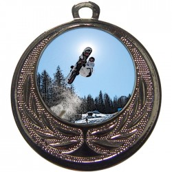 Silver Snowboarding Medal 40mm