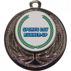 Silver Sports Day Runner Up Medal 40mm