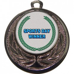 Silver Sports Day Winner Medal 40mm