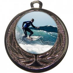 Silver Surfing Medal 40mm