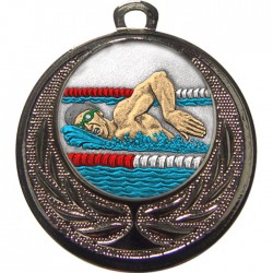 Silver Swimming Medal 40mm