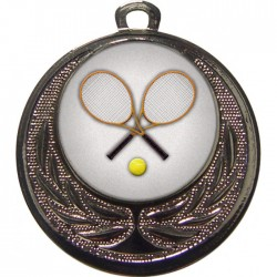Silver Tennis Medal 40mm