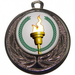 Silver Victory Torch Medal 40mm