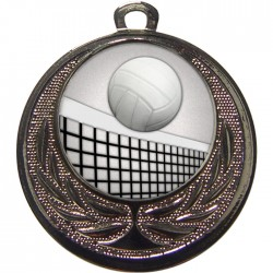 Silver Volleyball Medal 40mm