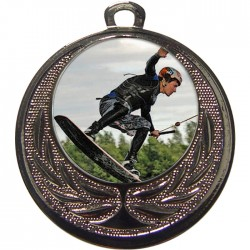 Silver Wake Boarding Medal 40mm