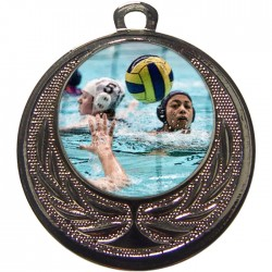 Silver Water Polo Medal 40mm