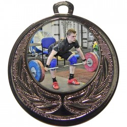 Silver Weightlifting Medal 40mm
