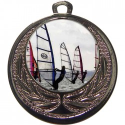 Silver Windsurfing Medal 40mm