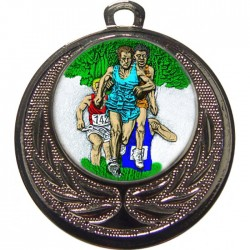 Silver Cross Country Medal 40mm
