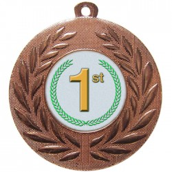 Bronze 1st Place Medal 50mm