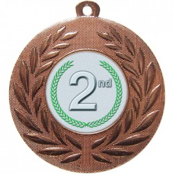 Bronze 2nd Place Medal 50mm