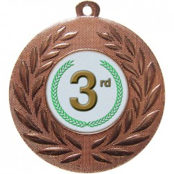 Bronze 3rd Place Medal 50mm