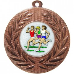 Bronze Female Athlete Medal 50mm