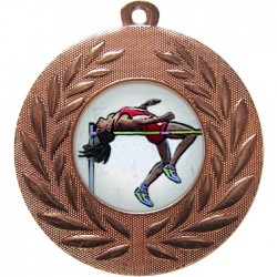 Bronze High Jump Medal 50mm
