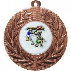 Bronze Jumping Athlete Medal 50mm