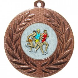 Bronze Male Athlete Medal 50mm