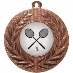 Bronze Badminton Medal 50mm
