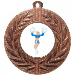 Bronze Cheerleader Medal 50mm