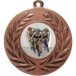 Bronze Cycling Medal 50mm