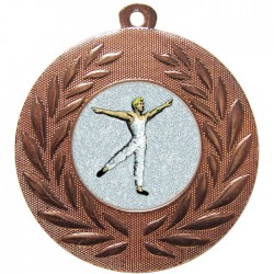 Bronze Male Dance Medal 50mm