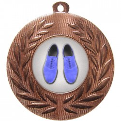 Bronze Blue Suede Shoes Dance Medal 50mm