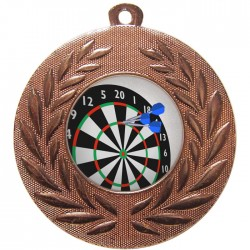 Bronze Darts Medal 50mm