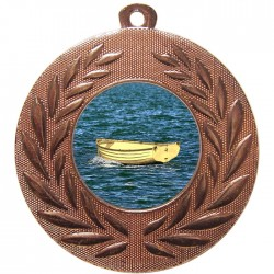 Bronze Wooden Dinghy Medal 50mm
