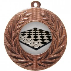 Bronze Draughts Medal 50mm