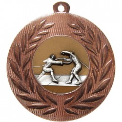 Bronze Fencing Medal 50mm