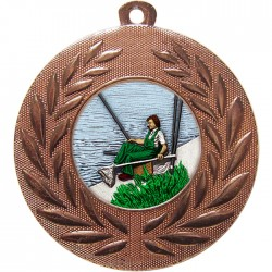 Bronze Fishing Medal 50mm