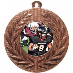 Bronze American Football Medal 50mm