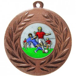 Bronze Male Football Medal 50mm