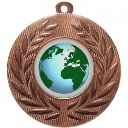 Bronze Globe Medal 50mm