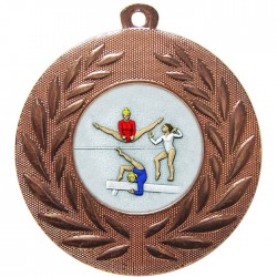 Bronze Female Gymnastics Medal 50mm