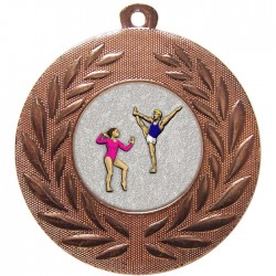 Bronze Gymnastics Floor Medal 50mm