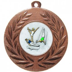 Bronze Male Gymnastics Medal 50mm